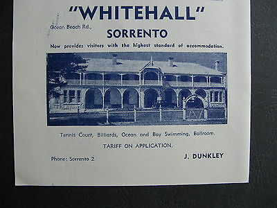 Whitehall Guest House Y Dunkley Ocean Beach Rd Sorrento