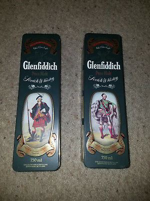 Lot of 2 - Glenfiddich Scotch Whisky Collectable Tins