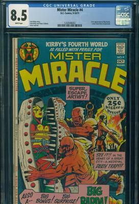 MISTER MIRACLE #4 CGC 8.5 VF+ 1st Appearance BIG BARDA DC Comics KEY JACK KIRBY