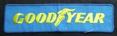 Vintage Large Goodyear Tires Yellow On Blue Patch