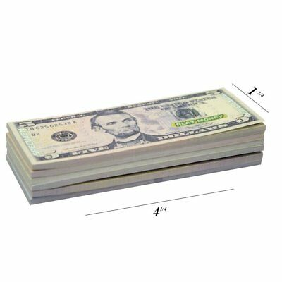 Monopoly Kid Play Money Fake Dollar Bills Realistic Learning Tool Game Education