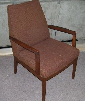 Vintage Mid Century Danish Modern Lounge Side Accent Directional Chair