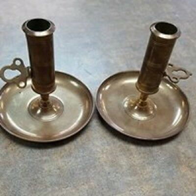 Pair Vintage Solid Brass Skultuna 1607 No. 68 Candle Stick Holders
