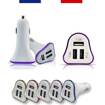 4,1A CHARGEUR VOITURE PRISE ALLUME-CIGARE UNIVERSEL 3 x PORTS USB MULTI-APPAREIL