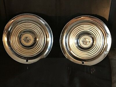 """Pair of 2 Vintage 15"""" Olds 88 Hubcaps Good Condition"""