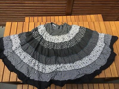 Vintage Prairie Tiered Cotton Skirt 8-10