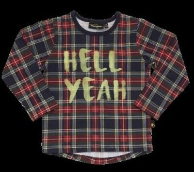Rock Your Baby Hell Yeah Long Sleeve Shirt BNWT Size 2