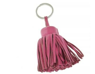 pre-loved authentic HERMÈS dusty rose pink CARMEN key fob / bag charm