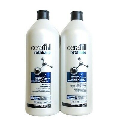 Redken Cerafill Shampoo 1 Litre And Conitioner 1 Litre Free Ship With Pumps
