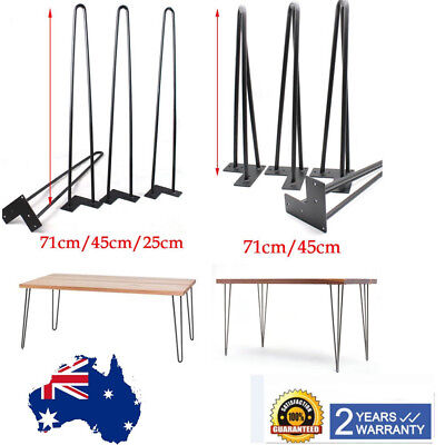 Best! 4Pcs HAIRPIN LEGS 12MM RODS POWDER COATED 25cm 45cm 71cm Free Shipping AU