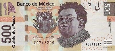 Mexico, 2017 500 Pesos P126 New Gem UNC
