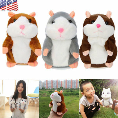 Talking Hamster Electronic Plush Toy Mouse Pet Sound Soft Cute Children Gift