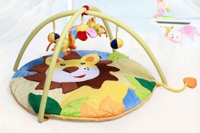 D26 Cartoon Animal Baby Bodybuilding Frame Velvet Cotton Play Mat Activity Gym A