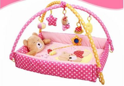 D56 Baby Fitness Bodybuilding Frame Velvet Cotton Play Mat Activity Gym A