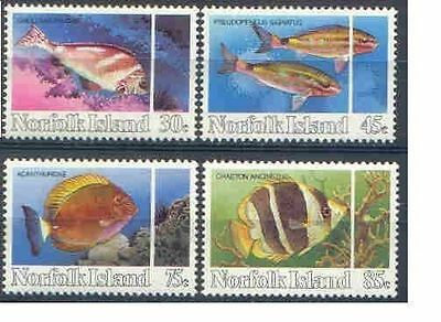Norfolk Island 1984 REEF FISHES Set (4) Superb Unhinged Mint, SG 334-7