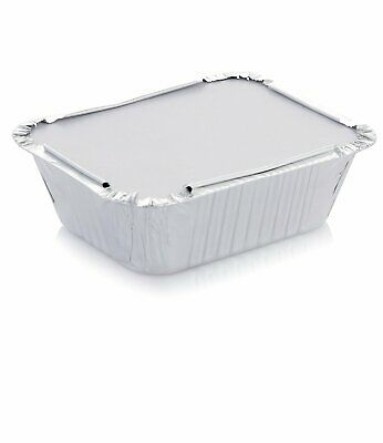 120 x Aluminium Foil Trays with Lid Disposable Food Container Roasting Roast Pan