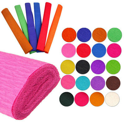 Party Streamers Jumbo Roll 500 Foot Crepe Paper 12 Colors Birthday 500' New