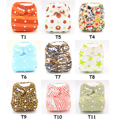 Newborn Washable Baby Cloth Diapers Cover Infant Kids Adjustable Reusable Nappy