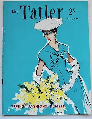 1956 Grace Kelly wedding TATLER 50s vintage fashion John French Michel Molinare