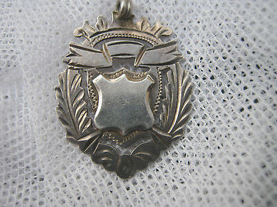 Antique Watch Chain Fob - Hallmarked 9.25 Sterling Silver - A1 Cond - $1 Post -