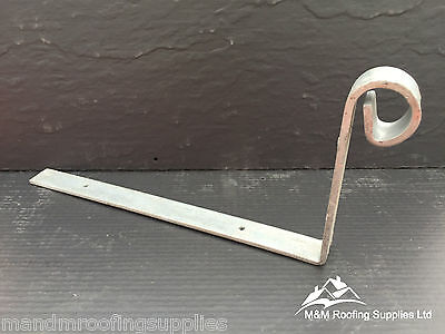 5mm LARGE HIP IRONS 300x150x5mm - SCROLLED - GALVANISED - FREE DELIVERY!!