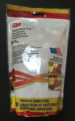 3M R/Y+ Performance Plus Wire Connectors Red/Yellow 100 Pcs Per Bag New