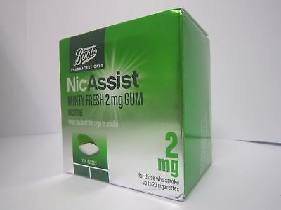 NICASSIST  CHEWING GUM X 210 Pieces (Choose Strength and Flavour)