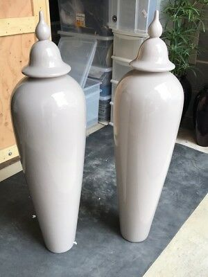 Tall Porcelain Ornaments (Pair) Vase