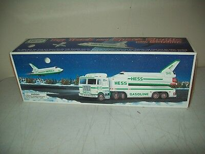 1999 Hess toy truck Space Shuttle & Satellite NEW factory intact in the box