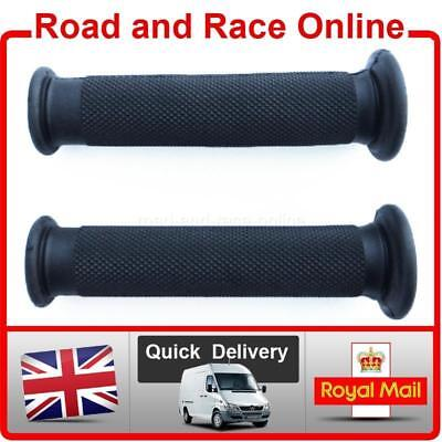 Replacement Motorcycle / Motorbike Handlebar Grips in Black Closed End Soft Comp