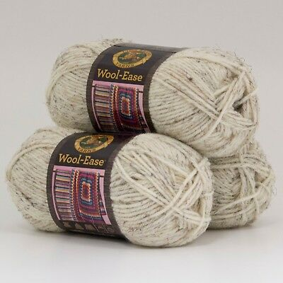 Wheat Pack of 3 skeins Lion Brand Yarn 640-402 Wool-Ease Thick /& Quick