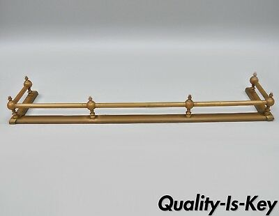 "42"" Antique Brass Victorian Fireplace Fender Surround Hearth Gate Rail Patina"