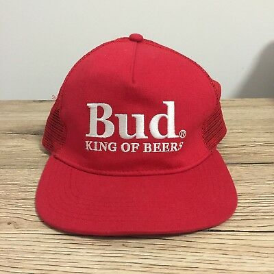Budweiser Bud King Of Beers Snapback Cap / Hat Brand New Promo Gear Truckers