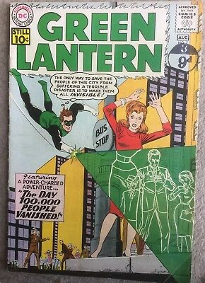Green Lantern #7 (Vol. 2) - First Appearance of Sinestro! - 1961 Condition Fine