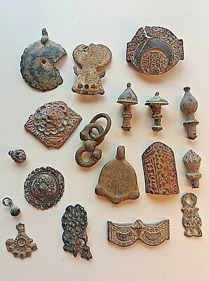 Ancient roman byzantine celtic medieval bronze artifacts collection - UK found