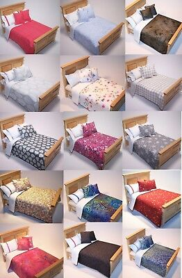 Dolls House Bedding Set -1/12 Handmade- Double Bed size-List 4-28/6 New Patterns