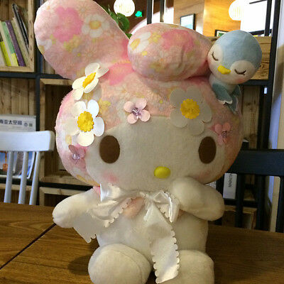 "Large My Melody Plush Doll Cute Stuffed Toy with Sakura Bird Sanrio 17"" Gift"