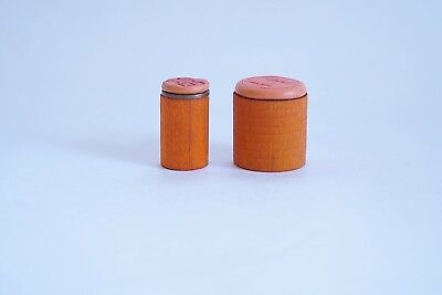 2 Chinese wood stamp seals