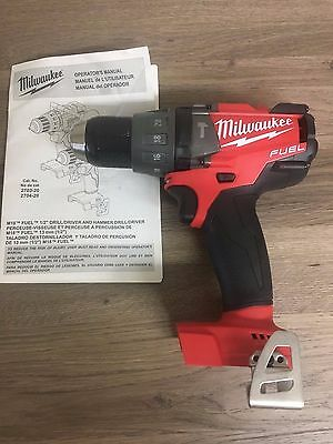 """Milwaukee M18 Gen2 FUEL 1/2"""" Compact Hammer Drill/Driver 2704-20 New NO HANDLE"""