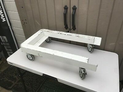 Heavy Duty Aluminium 4 Wheeled Dolly Trolley Flight Case Furniture Machinery