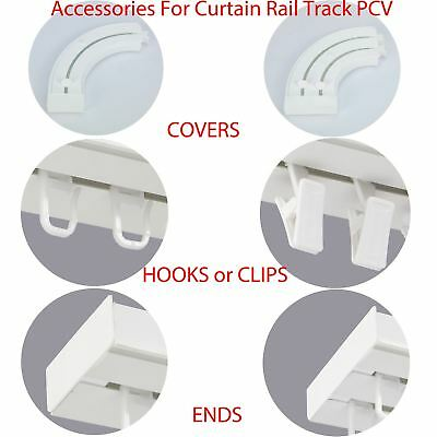 Accessories for Curtain Rail Track PCV Hooks Clips Corners Joiner Plug End