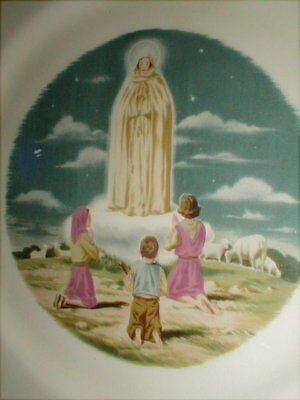 Vintage Miracle Of Our Lady Of Fatima Virgin Mary Holy Catholic Religious Plate