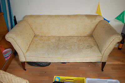 antique chaise longue / day bed (cream) - probably victorian