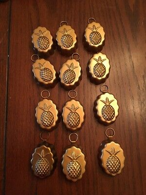 12- SMALL COPPER MOLDS - Pineapple Design Approx 2 Inch By 1 And 1/5 Inch