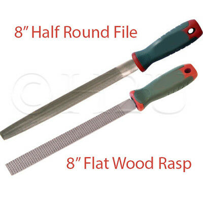 "8"" Half Round File Flat Wood Rasp Handle Shaping Wooden Metal DIY Coarse Cut"