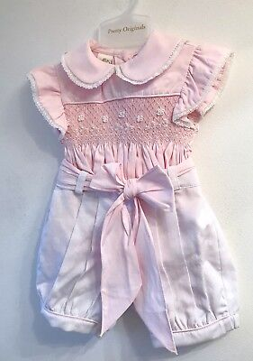 Pretty Originals Smocked Outfit Baby Girls Spanish Set 12 Months Brand New