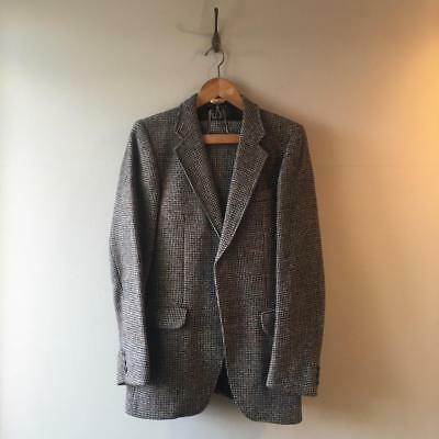 "True Vintage Harris Tweed 2- Piece Wool Suit Jacket Trousers W30"" C38"""