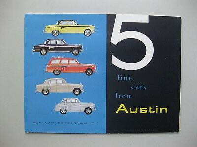 Austin A35 A50 A95 Countryman A105 folder Prospekt brochure English 1958 12pages