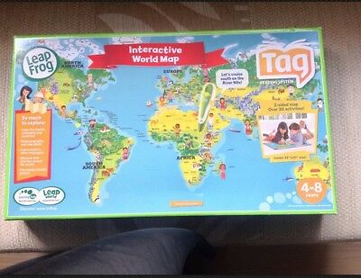 Leapfrog interactive world map for use with leapfrog tag reader leapfrog leapreader world interactive map gumiabroncs Choice Image