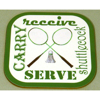 Badminton Text Coaster